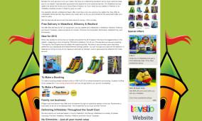 Bouncy Castle Website Design