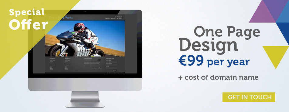 €99 One Page Websites